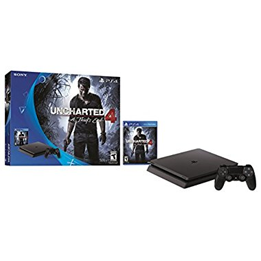 PlayStation 4 Slim 500GB Console with Uncharted 4 Bundle