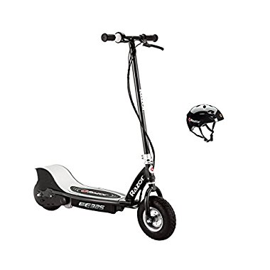 Razor E325 Electric 24V Black Scooter And V17 Youth Helmet | 13116397 + 97778