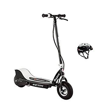 Razor E325 Electric 24V Black Scooter And V17 Youth Helmet | 13116397 + 97778