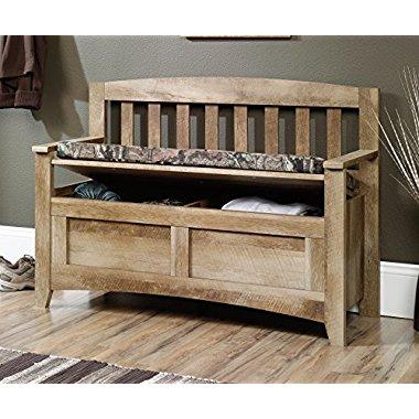 Sauder Furniture 416699 East Canyon Mossy Oak Infinity Storage Bench w/ Seat Pad