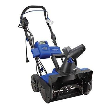 Snow Joe iON18SB-HYB 40V 4.0 Ah Hybrid Cordless or Electric Cordless Snow Blower, 18