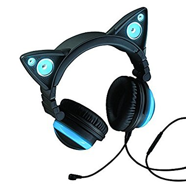 Wired Cat Ear Headphones by Brookstone