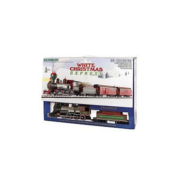 Bachmann White Christmas Express Ready To Run Electric Train Set Large G Scale