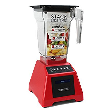 Blendtec Classic 560 1560W 3 Hp Kitchen Blender - Red