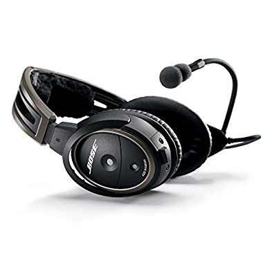 Bose A20 Aviation Headset with Bluetooth Dual Plug Cable, Black, 324843-3020