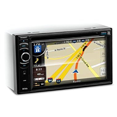 BOSS AUDIO BV9386NV Double-DIN 6.2 inch Touchscreen DVD Player Receiver GPS Navigation, Bluetooth, Wireless Remote