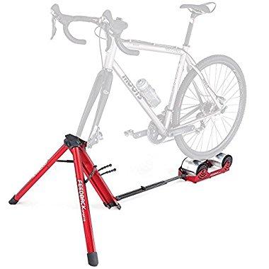 Feedback Sports Feedback Omnium Portable Bike Trainer with Tote Bag, Red