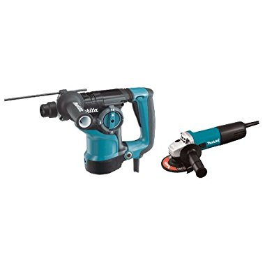 Makita HR2811FX 1-1/8 Inch Rotary Hammer SDS-Plus with 4-1/2 Inch Angle Grinder