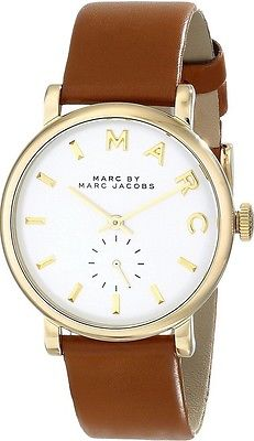 Marc by Marc Jacobs MBM1316 Baker Gold Women's Brown Leather Watch New in Box
