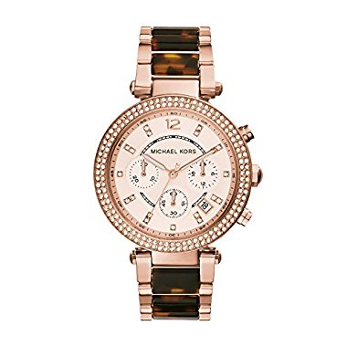 Michael Kors Women's Parker Rose Gold-tone/Tortoise Watch MK5538