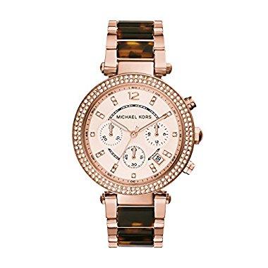 Michael Kors Women's Parker Rose Gold-tone/Tortoise Watch MK5538
