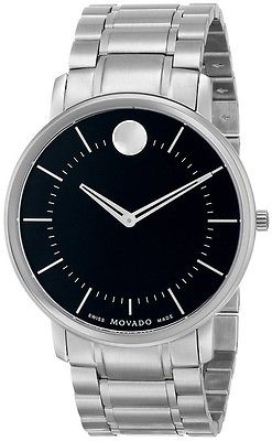 Movado TC Black Dial Stainless Steel Men's Watch (0606687)