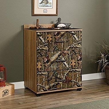 NEW Sauder Furniture 417244 Flat Creek Mossy Oak 3-Drawer Storage Cabinet Chest