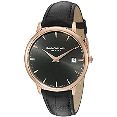 Raymond Weil Toccata 5488-PC5-20001 Men's Rose Gold and Black Analog Display Quartz Watch