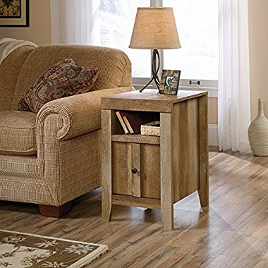 Sauder Dakota Pass End Table in Craftsman Oak
