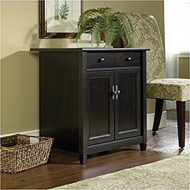 Sauder Furniture Edge Water Collection Utility Stand in Estate Black / 408696