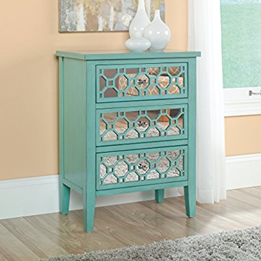 Sauder Furniture Inspired Accents Seafoam Green Storage Accent Chest / 417136
