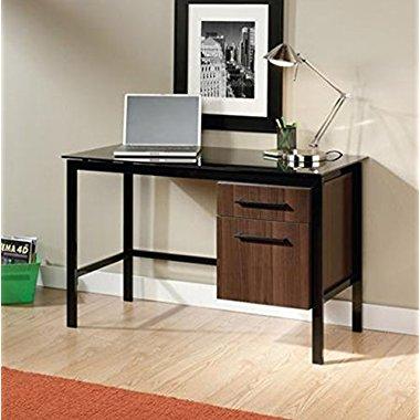 Sauder Furniture Select Venture Modern Office Black Glass Top Desk | 414416