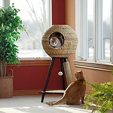 Sauder Natural Sphere Cat Tower, Brown