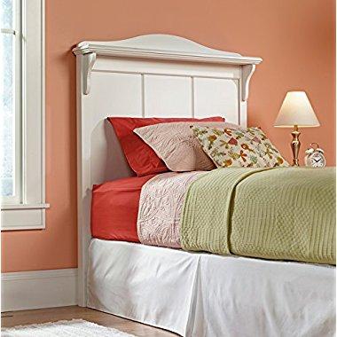Sauder Woodworking 414676 Pogo Twin Bed Soft White Headboard Bedroom Furniture