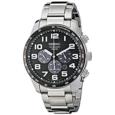 Seiko SSC229 Sport Men's Solar-Power Stainless Steel Bracelet Watch