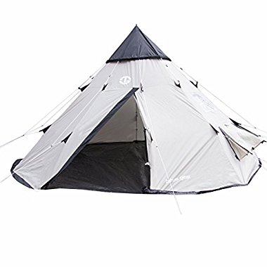 Tahoe Gear Bighorn 4-Person 10' x 10' Teepee Cone Shape Tent | TGT-BIGHORN-4