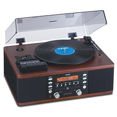 Teac LP-R550USB CD Recorder with Cassette Turntable (Walnut)