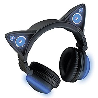 Wireless Bluetooth Cat Ear Headphones (Color Changing)