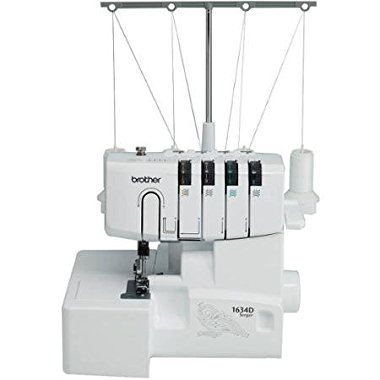 Brother 1634D 3 or 4 Thread Serger with Differential Feed, Soft Cover and Accessories