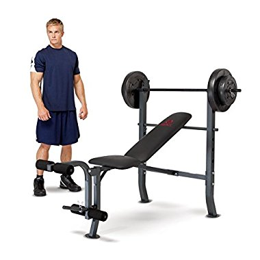 Impex Marcy 80-pound Weight Set Workout Bench