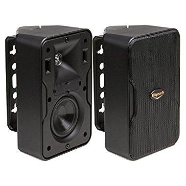 Klipsch CP-4 Compact Performance Series Outdoor Loudspeaker Pair (Black)
