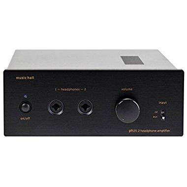 Music Hall PH25.2 Hybrid Headphone Amplifier with Tube Pre-Amp Black