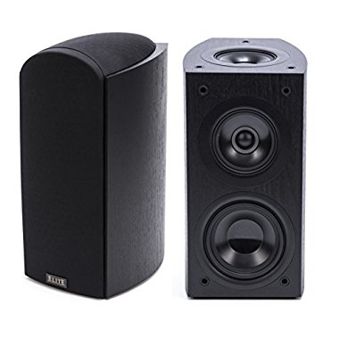 Pioneer Elite SP-EBS73-LR Dolby Atmos Bookshelf Speakers (Black, Pair)