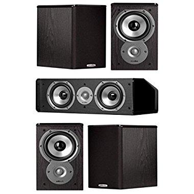 Polk Audio TSi100 5.0 Home Theater Speaker System Bundle (Black)