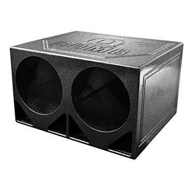 Q Power QBOMB12TB Dual 12 Triangle Ported Speaker Box with Durable Bed Liner Spray