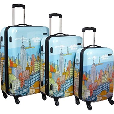 Samsonite CityScapes NYC 3 Piece Set 20, 24, 28 Premium Spinner Luggage Set