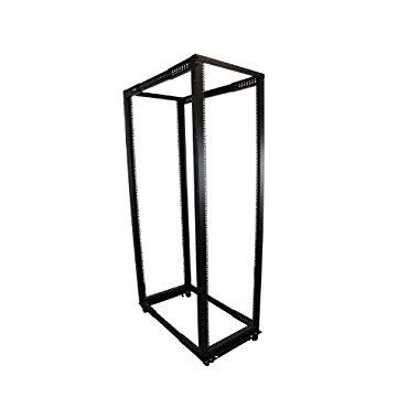 Startech.com 42U Adjustable Depth Open Frame 4 Post Rack Cabinet in Black 4POSTRACK42