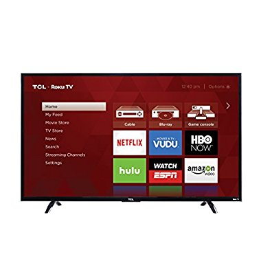 TCL 43UP130 43 4K Ultra HD Roku Smart LED TV (2016 Model)
