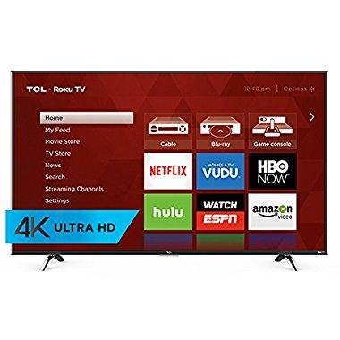 TCL 55UP130 55 4K Ultra HD Roku Smart LED TV (2016 Model)
