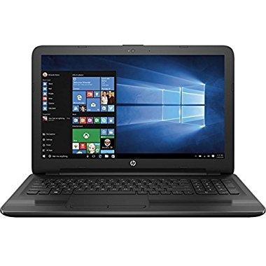 "HP 15-ba018wm 15.6"" Premium Laptop with AMD Quad-Core E2-7110 APU 1.8GHz, 4GB RAM, 500GB HDD, AMD Radeon R2, DVDRW,  HD Webcam, Windows 10 Home (2017 Model)"