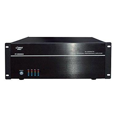 Pyle PT8000CH 8-Channel, 8,000-Watt Stereo/Mono Amp