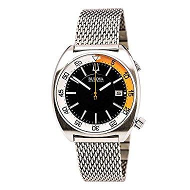 Bulova Acutron II Black Dial Stainless Steel Quartz Men's Watch 96B208