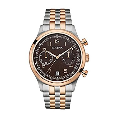 Bulova Chronograph 98B248 Two Tone Rose Stainless Steel
