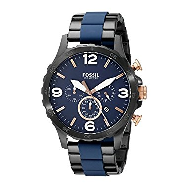 Fossil Men's JR1494 Nate Analog Display Analog Quartz Black Watch