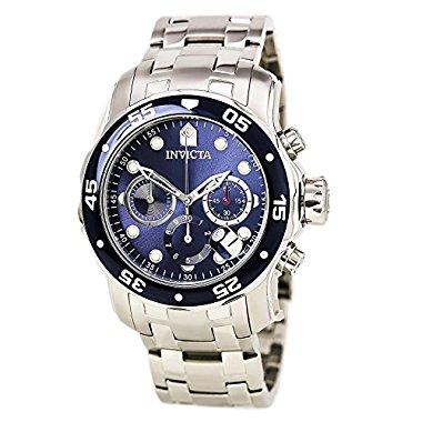 Invicta Men's 0070 Silver Stainless-Steel Swiss Quartz Watch