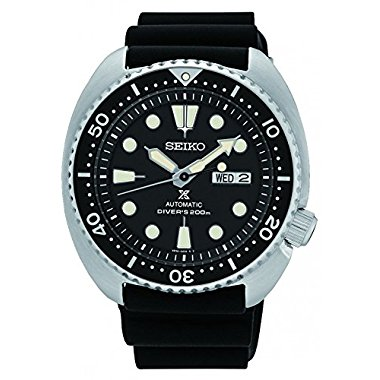 Seiko SRP777K1 Prospex Black Silicone Band 45mm Steel Case Men's Watch