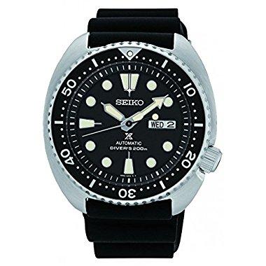 Seiko SRP777K1 Prospex Black Silicone Band 45mm Steel Case Men's Watch