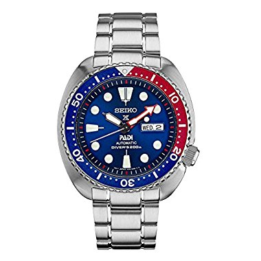 Seiko SRPA21 Padi Automatic Prospex Pepsi Turtle Divers 200M Men's Watch