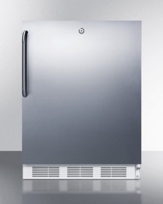 AccuCold ALB651LSSTB 24 ADA Compliant Dual Evaporator Undercounter Refrigerator with 5.1 cu. ft. and Towel Bar