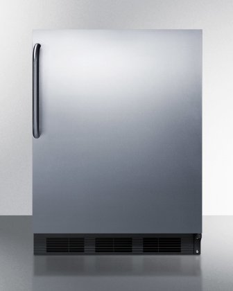 AccuCold BI541BCSS 24 Undercounter Refrigerator with 5.1 cu. ft. Capacity, 2 Glass Shelves, Cycle Defrost, Adjustable Thermostat and Interior Lighting